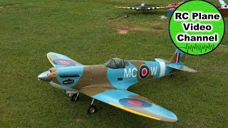 preview picture of video 'Spitfire Mk. IX - Brain Taylor - 2108mm - 55ccm - MFG Tirschenreuth - Dieter'