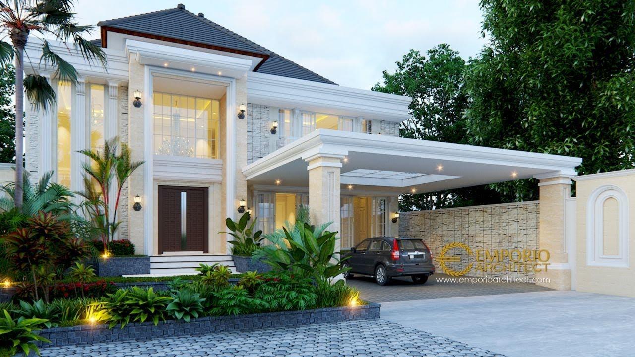 Video 3D Desain Rumah Classic 2 Lantai Bapak Gatot di Yogyakarta