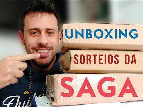 UNBOXING LIVROS + SORTEIOS SAGA LITERÁRIA #3