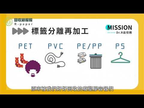 廢塑膠容器回收後去哪兒?Dr R帶你一探究竟