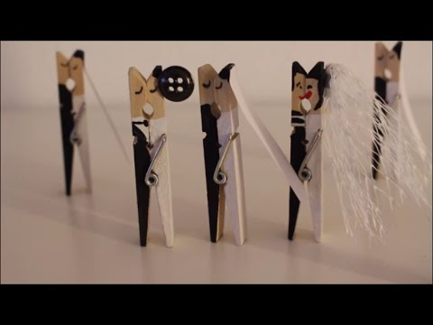 DIY: Wäscheklammern Brautpaar für Hochzeitsdeko