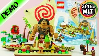 LEGO DISNEY VAIANA auf hoher See mit Maui + Heihei Boot fahren | Demo