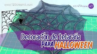 Decoración de telaraña para Halloween - Proyecto de costura paso a paso