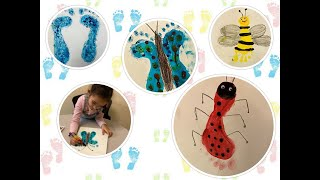 Learn Footprint Craft Activity And Fun Painting With Smiley