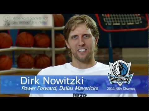 Video Jammed Finger: Dirk Nowitzki Interview with Hand Society (ASSH)