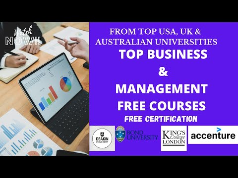 Free Online Business & Management Courses   Free Certification ...