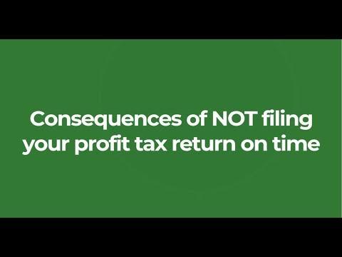 如果你没有按时利得税报税表