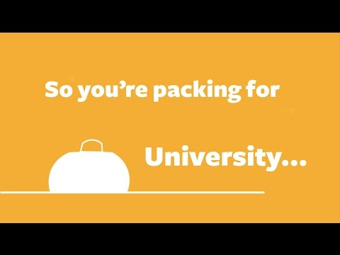 What should I pack when moving into halls? | UoS