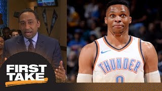 Stephen A. Smith on Russell Westbrook fan altercation: Straight punk move | First Take | ESPN