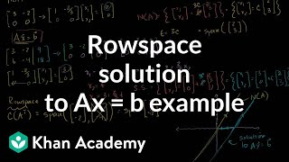 Linear Alg: Rowspace Solution to Ax=b example