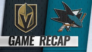 Burns scores in OT, Sharks top Knights to snap skid