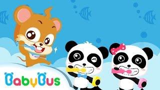 シャカシャカ歯みがきアニメ  はみがきだいすき  赤ちゃんが喜ぶアニメ   動画   BabyBus