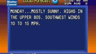 WeatherStar 4000 Emulator   8/2/2009