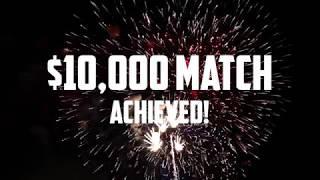 Brass Fundraiser: $10k match blown out of the water!