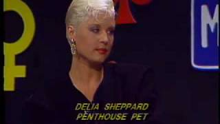 Penthouse Pet Delia Sheppard with Miggs B on TV