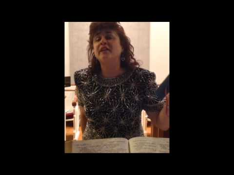 """Go, Tell it on the Mountain"" Christian Folk Song-Sung on Christmas Eve, 2014 accompanied at the piano by the pastor."