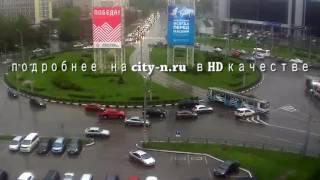 Внедорожник протаранил трамвай в Новокузнецке