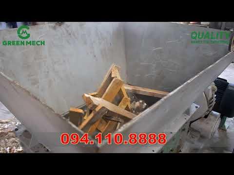 Máy nghiền gỗ pallet có đinh 1 tấn