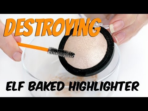 THE MAKEUP BREAKUP - Can you re-press a baked product? | Destroying E.L.F Baked Highlighter