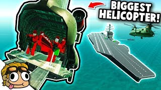 CARRIER ASSAULT w/ CHINOOK TRANSPORT HELICOPTER! | Ravenfield Mod Gameplay