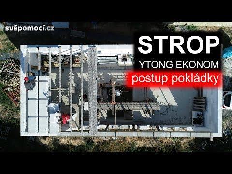 Pokládka stropní konstrukce Ytong Ekonom
