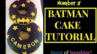 How to make a Number 8 Batman Cake!