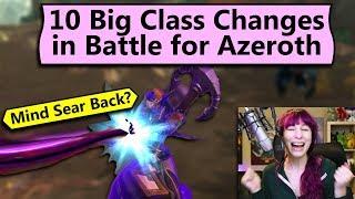 Ten Big Class Changes in BfA