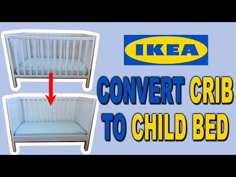 Convert Sundvik IKEA Crib to Toddler Bed | Clueless Dad