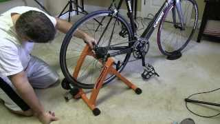 Conquer Indoor Bicycle Cycling Trainer Exercise Stand Setup