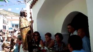 preview picture of video 'Puja en San Roque 2013 en Cañaveral (Cáceres)'