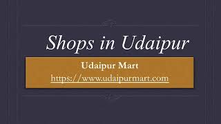 Shops in Udaipur, shopping in udaipur