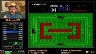 Legend of Zelda NES speedrun in 29:44 by Arcus