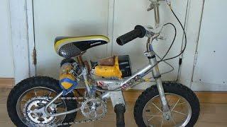 anak kecil membuat sepeda elektrik dari bor tangan
