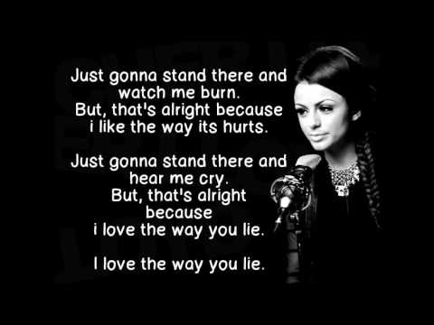 Cher Lloyd - Love The Way You Lie Lyrics