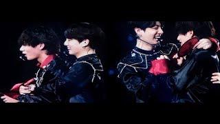 Jungkook hugs taehyung to apologize and tae looks emotional (taekook vkook analysis)