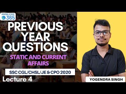 Lecture 4 | PYQs | SSC CGL/CHSL/JE &CPO 2020