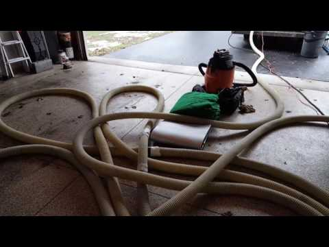 Video of dense packing cellulose in the slopes of a mud room in Pittsford, NY