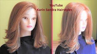Layered Bob Haircut Tutorial | Medium Length Haircut  With Layers For Women