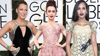Mandy Moore Lily Collins Kerry Washington Best Dressed At The 2017 Golden Globes