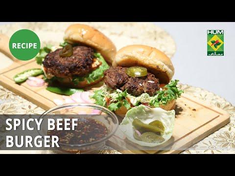 Spicy Beef Burger Recipe | Dawat | Abida Baloch | Fast Food