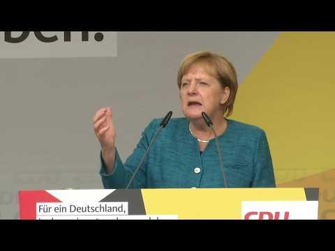 Wahlkampf 2017: Angela Merkel bei Auftritt in Sachsen massiv beschimpft