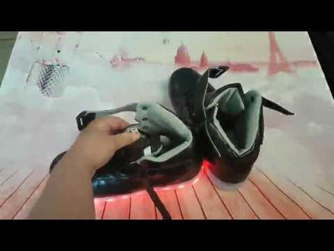 HUSK'SWARE Unisex Kinder Jungen Mädchen LED Schuhe mit USB Sportschuhe Sneakers