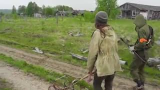 Ржавая коляска и заброшенный поселок