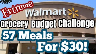 57 MEALS FOR $30 | EMERGENCY Extreme Grocery Budget Haul Challenge | SAVE MONEY | Julia Pacheco