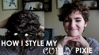How I Style My Naturally CURLY Pixie Cut!