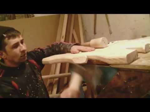 Резьба по дереву.Как сделать стол и две лавы под старинку проще некуда.