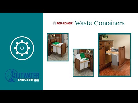 Rev-A-Shelf | 50 Qrt | Top Mount Waste Container with Soft-Close | 1-1/2in Face frame