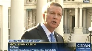 "Governor Kasich ""Look! The Man Is The President Of The United States!"""