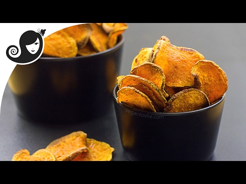 Oven-baked Masala Sweet Potato Chips | Vegan/Vegetarian Recipe