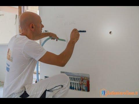 Isolamento termico di una casa tramite insufflaggio dell'intercapedine con schiuma poliuretanica